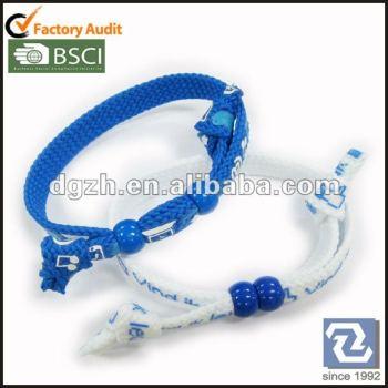 Druck-Polyester wrisbands mit Perlen