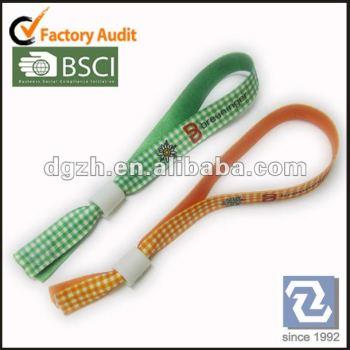 Einmal armband, polyester gewebt armband, armbänder