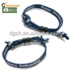 Tessuto wrisbands, stampa poliestere braccialetti