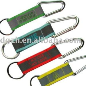 reflektierende Schlüsselkette mit Carabiner