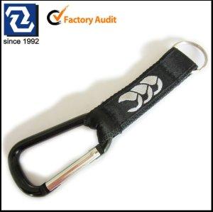 Schlüsselhalterbügel mit carabiner, gesponnene sation Firmenzeichen carabiner Bügel