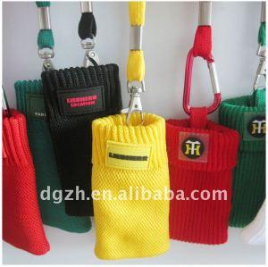 lavoro a maglia di cotone sacchetto del telefono mobile titolare cordini