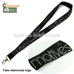 cordini logo personalizzato diamanti