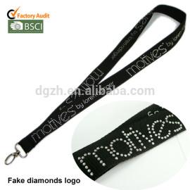 Custom diamonds logo lanyards