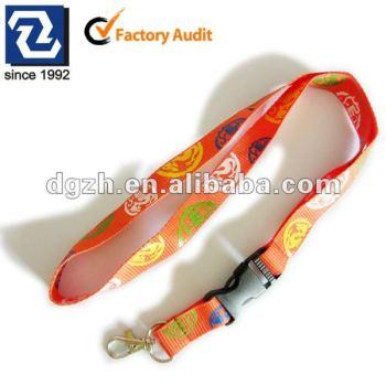 Multicolor cordones de poliéster, Regalo promocional para el cuello correas