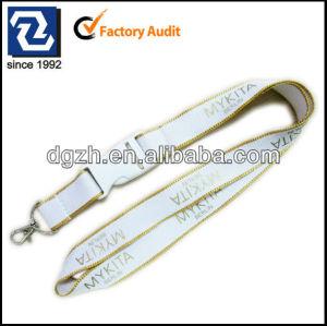 Seda impresión de la insignia cordón de poliéster