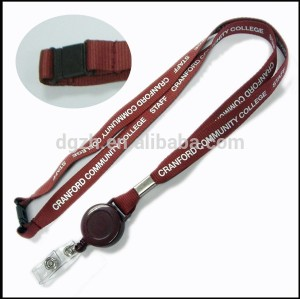 Customzied logo lanyards llaveros con retráctil carrete