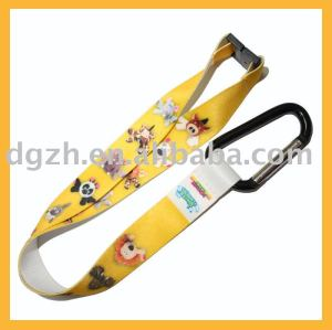 Brauch schlüsselband mit karabiner, polyester umhängeband