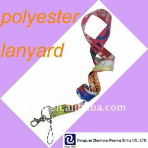 Halskette, polyester lanyard
