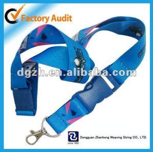 Cuerda de seguridad promocional, Cuello de la correa con la insignia de encargo