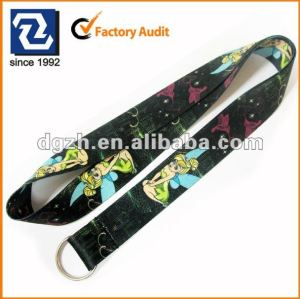 Lanyard gurte, polyester lanyards, sublimation cartoon logo lanyards