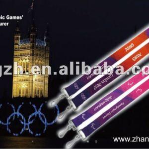 Cordones para juegos olímpicos de titular de la tarjeta, Cuello del acollador titular
