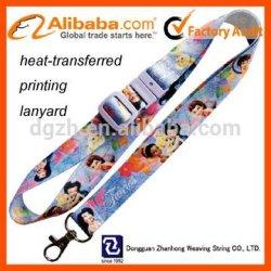 Polyester logo personnalisé de transfert de chaleur lanière