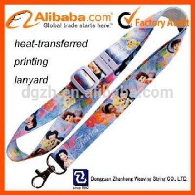 Polyester benutzerdefinierte logo wärme- Transfer lanyard