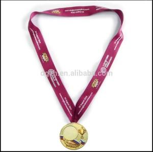 aus polyester gedrucktes logo medaille inhaber umhängebänder für sport treffen