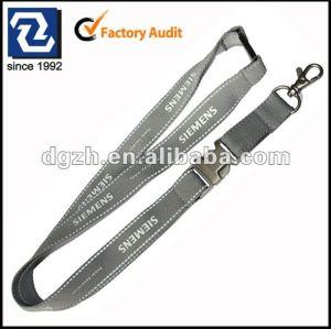 Correas reflectantes para cintas de cuello, Hebilla de metal cordones porta-tarjetas