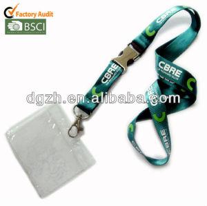 Promocional de nylon correas de cuello con PVC titular de la tarjeta