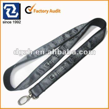 Satén insignia de la impresión cuello correas, Titular de la clave cordones