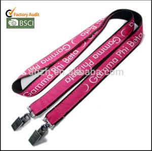 Satén de la cuerda de seguridad logo para la tarjeta badg