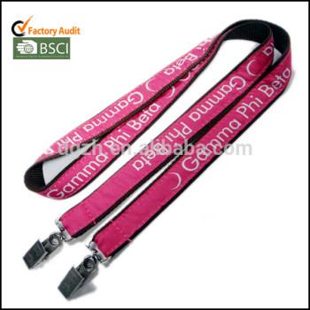 Doble - finales bull dog clip de cordón de satén