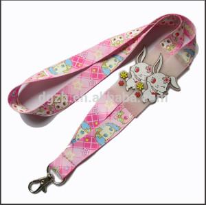 Moda lindo pvc logo cintas de cuello