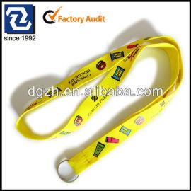 Polyester multi- farbe logo lanyard, mode hals riemen