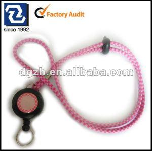 Redondo cordones con la insignia de encargo retráctil reeler