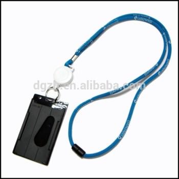 Tejida ronda logo cordón para el cuello con titular de la tarjeta