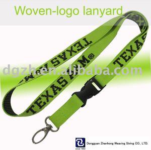 Polyestergewebe- logo schlüsselband