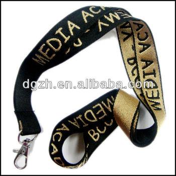 Tejida del color del oro cintas de cuello