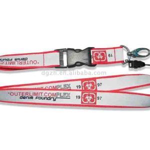 Reflexivo cordón su logotipo, Cuello de la correa para de concesión de licencias de la correa
