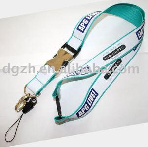 Regalo de empresa reflexivo cuerda de seguridad de metal hebilla cuello de correa de soporte