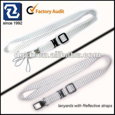 reflektierenden polyester werbegeschenk kartenhalter hals lanyards