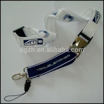 Regalo promocional reflectante cordón para el cuello con el metal bunckle