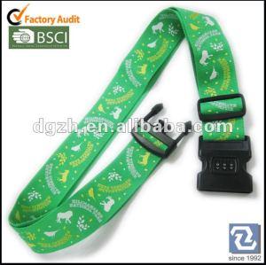 Polyester-Gepäckbügel mit Verschluss, silk Druckenfirmenzeichen-Gepäckgurt