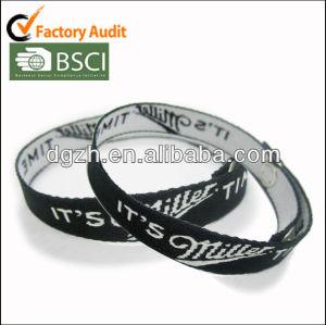 gesponnene Polyester Wristbands