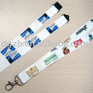 Sublimation logo polyester umhängeband, schlüsselhalter lanayrds