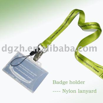 Nylon cordón titular de la tarjeta, Tarjeta de trabajo de cuello correas