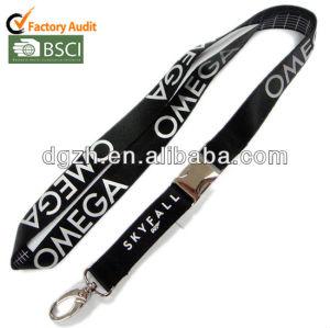 Nylon cordón para el cuello con hebilla de metal