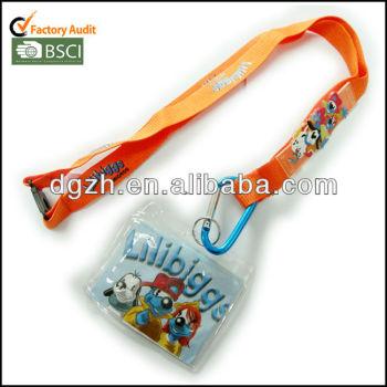 Logotipo de silicona de cuello correas con bolso de la tarjeta