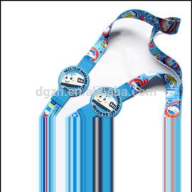beliebt silikon logo schlüsselband mit geschnitten logo