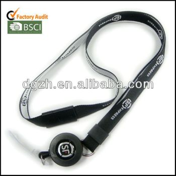 Retráctil carrete lanyard