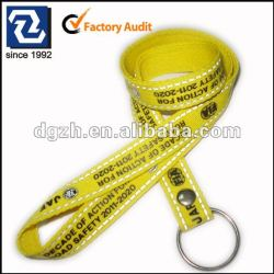 Promotion cadeau porte-clés lanière longes avec réfléchissants impression de logo personnalisé