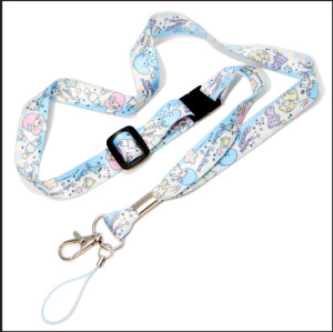 Fashion sublimation logo polyester lanyard for children gift