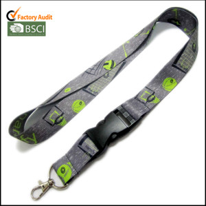 Custom subimation logo polyester lanyards for workers' card holder
