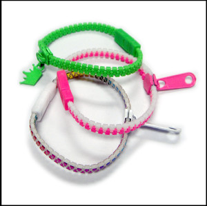 塑料拉链手腕手环手链带