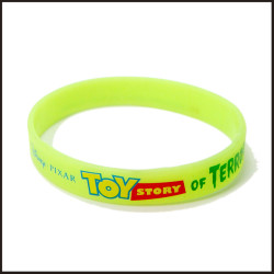 Fluorescent charms green silicone wrist bracelets