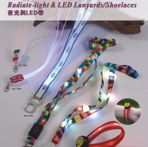 Led light necklace lanyard for promotional gift