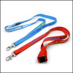 涤纶印刷客人定制宣传图PVC证件套挂绳