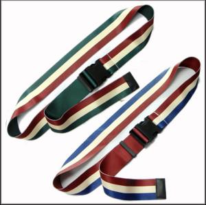 间色热转印箱包带定制颜色带尾夹旅行包带